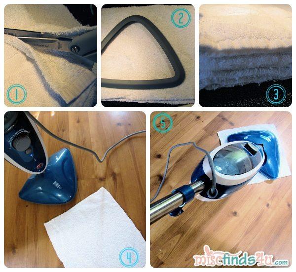 My easy DIY Steam Mop Head Pads