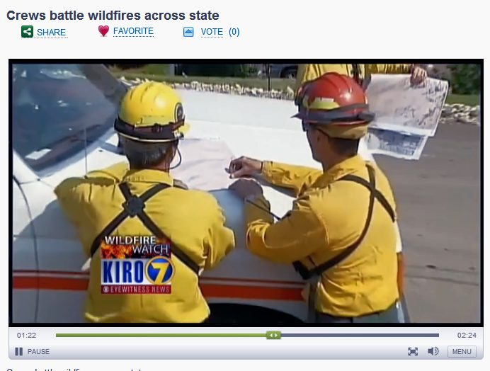 I grabbed a screenshot of the hubs from this TV report - my hubby is the one on the right