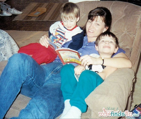 Me and my boys - we read every night with few exceptions well into elementary school (1990 or 1991)