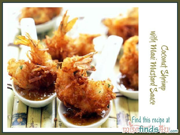 Gourmet Recipe: Coconut Shrimp with Maui Mustard Sauce