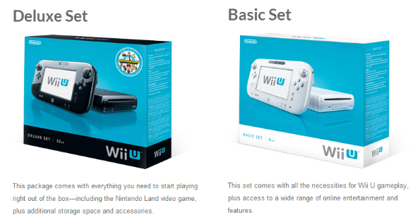 Wii U Console Options, Pricing, and Buying Options, and links to buy