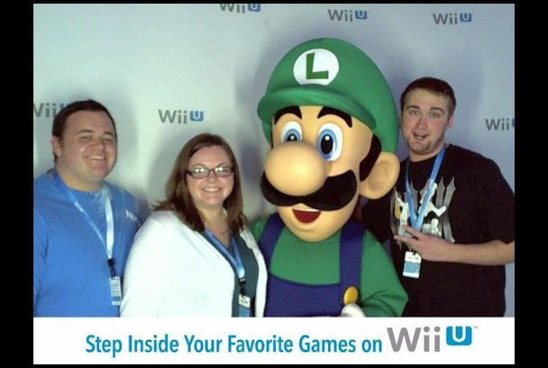 Matt, Laura, Luigi, and XX at the Seattle Wii U Experience