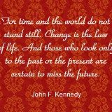 Quote about the future by John F Kennedy