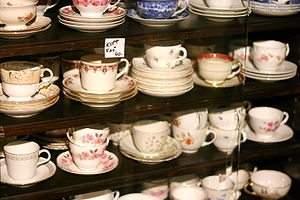 English: Varieties of coffee cups for sale in ...