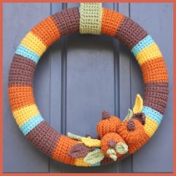 Crocheted Fall Wreath by Repeat Crafter me: