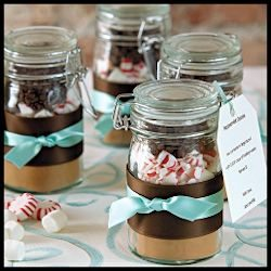 DIY Hot Chocolate Favors - Holiday weddings, hostess gifts, holiday parties, gifts from the kitchen