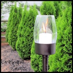 Tutorial: DIY Outside Candle Hurricane Lanterns from Thrift Store Glass, Candle Holder and Hurricane
