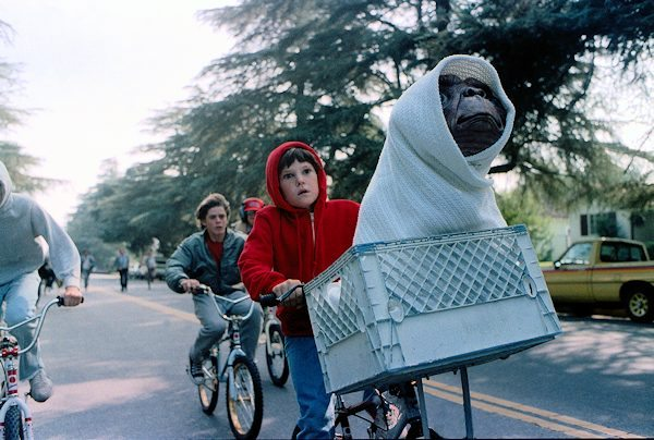 Henry Thomas and E.T. on Bicycle