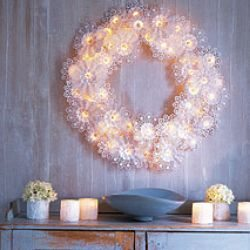 Martha Stewarts' Doily Wreath - Actually Made by Paper Bouquet Holders