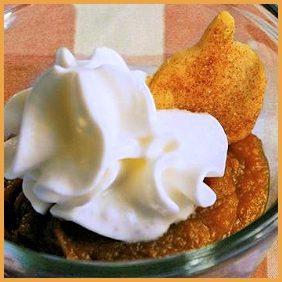 Mini Pumpkin Pie Cup Shooters with Pie Crust Dipper