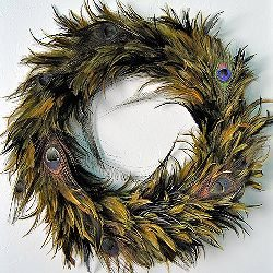 Peacock Feather Wreath by Simply Sadie Jane