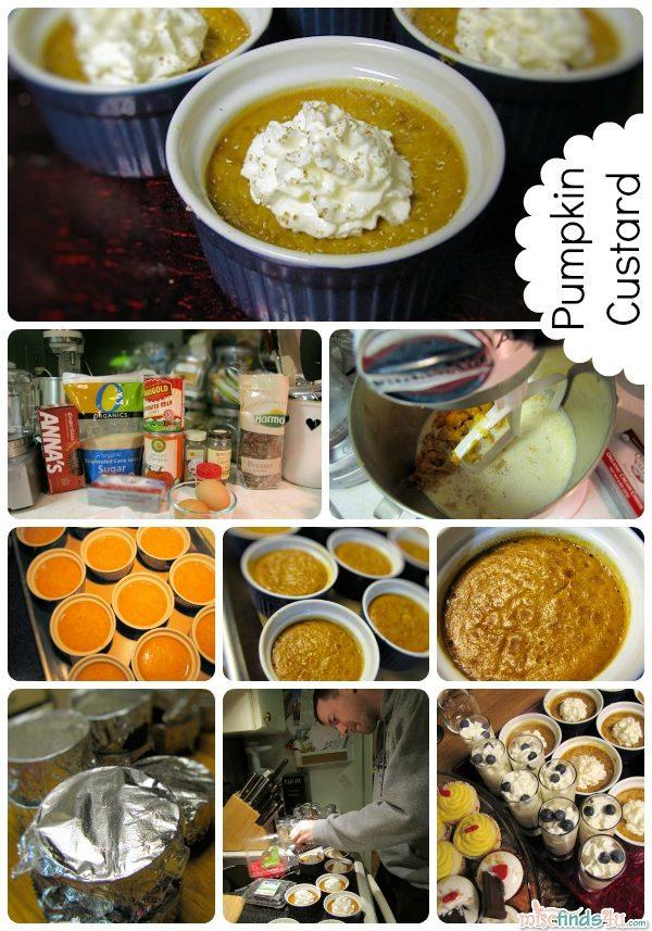 Recipe: Mini Pumpkin Custard with Ginger Cookie Crust and Spiced Cream