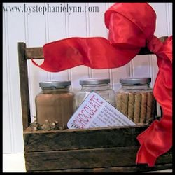 Rustic Holiday Homemade and Marshmallows Hot Chocolate Gift Basket