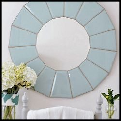 Ugly Hanging Lamp to Amazing Wall Mirror Re-do