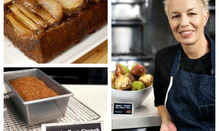 Recipe: Upside Pear Crunch Coffee Cake by Chef Elizabeth Falkner