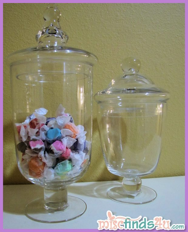 Candy bar apothecary jars