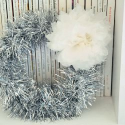 Vintage Tinsel Garland Wreath by Creature Comforts