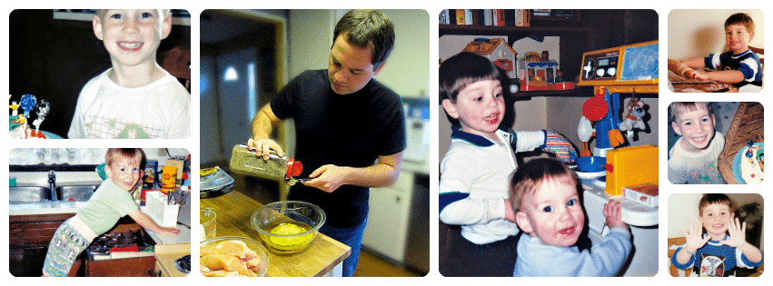 My boys enjoyed cooking from a very young age and still do!