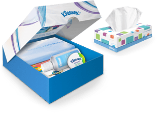Send a free (with code) Kleenex Care Pack