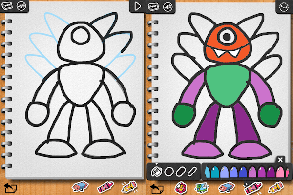 Learn With Fun Apps - Kids can learn to draw monsters, people, animals, and dinosaurs