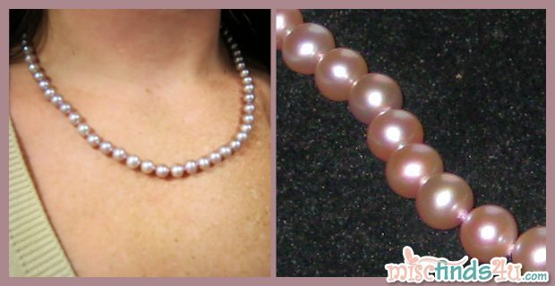 Natural Lavender Pearl Necklace