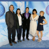 New York Premiere of Secret of the Wings with voice talent (L to R) Timothy Dalton, Anjelica Huston, Matt Lanter, Raven-Symoné and Mae Whitman