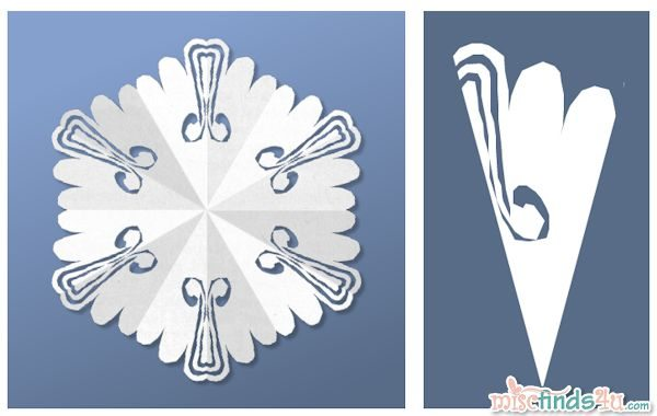 Virtual Snowflake Creator - Cut 2