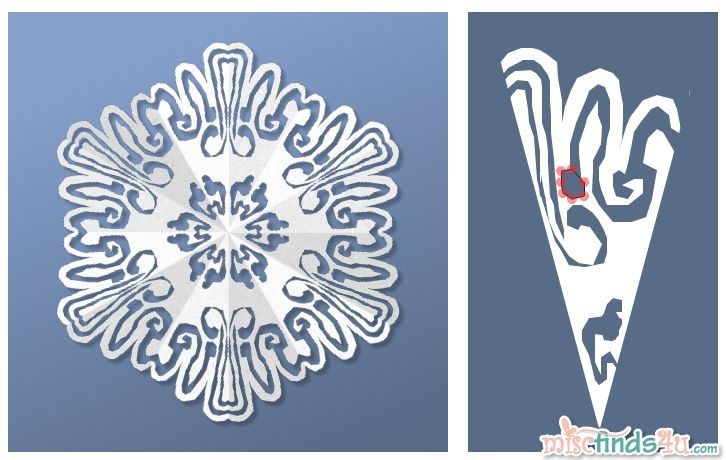 Virtual Snowflake Creator - Cut 3