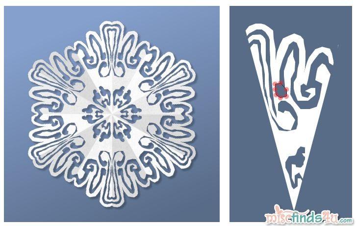 Virtual Snowflake Creator - Cut 3