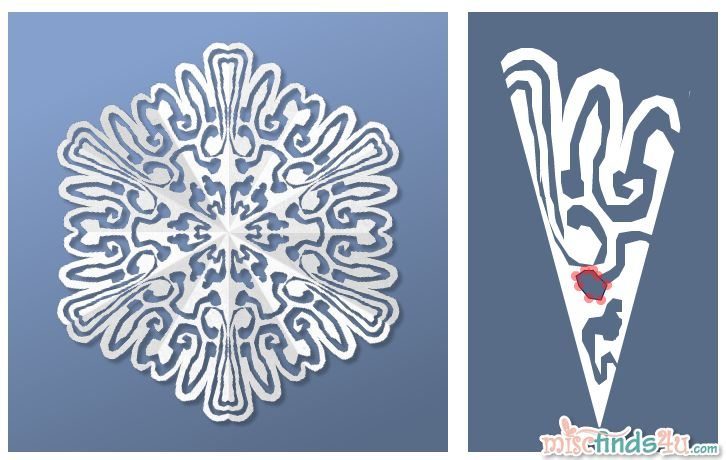 Virtual Snowflake Creator - Cut 4