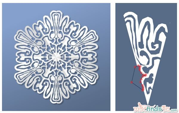 Virtual Snowflake Creator - Cut 5