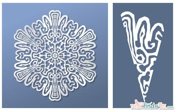 Virtual Snowflake Creator - Cut 7