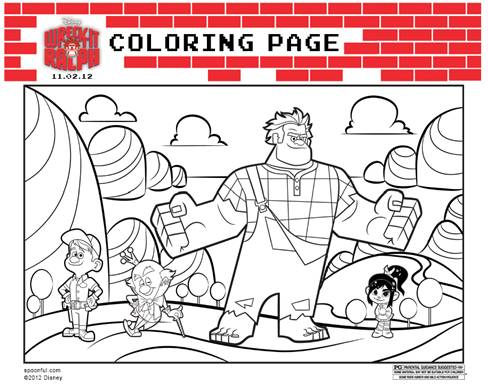 Free downloadable and printable Wreck-it Ralph Coloring Page