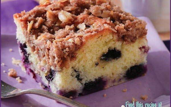 Recipes: Easy Blueberry Coffee Cake Recipe with Streusel Topping