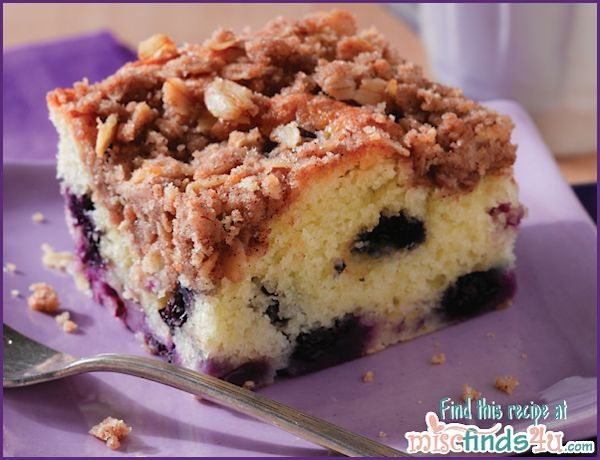 Blueberry Coffee Cake Recipe Streusel Topping