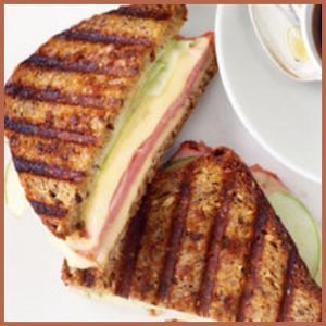 Breakfast Panini with Jarlsberg Cheese, Ham, and Granny Smith Apple from au.lifestyle.yahoo