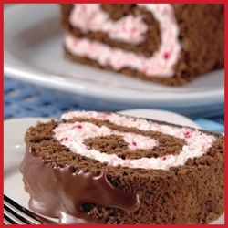Chocolate Peppermint Log Recipe by HERSHEY'S - scratch baking recipe