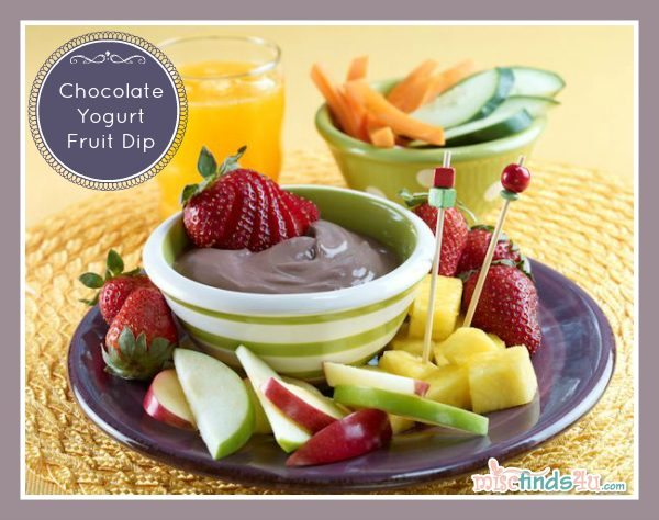 Chocolate Yogurt Fruit Dip Recipe - Kid- and Family-Friendly Recipes