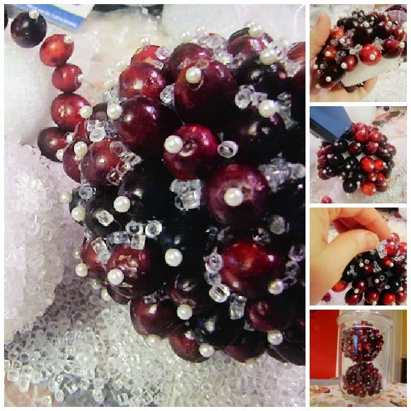 Christmas Cranberry Ball Decoration Tutorial