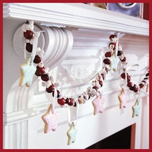 Cranberry and Christmas Cookie Garland by BH&G