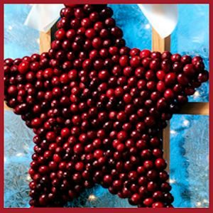Cranberry covered star (or shape of our choice) by OceanSpray