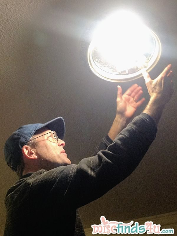 Checking out our most-used lights to see where we can save some money by changing bulbs.