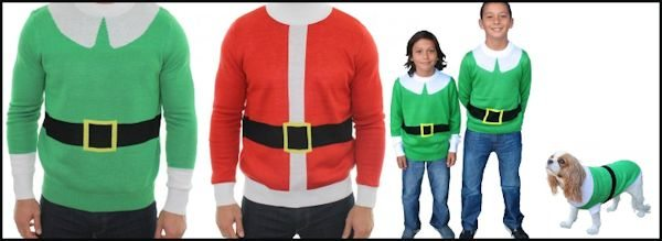 Santa and his Elves Sweaters for the whole family