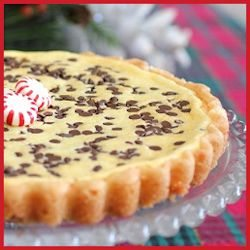 Semi-homemade Peppermint Chocolate Chip Cheesecake Tart by Cooking with Sugar
