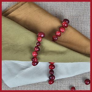Simple handmade fresh cranberry napkin rings by epicurious.com