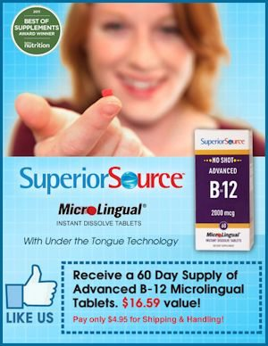 Superior Source Special Offer - Free Micro-lingual B12 (pay shipping)