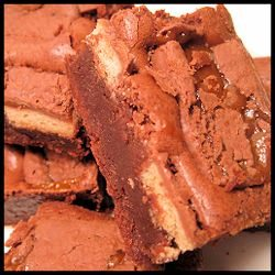 Twix Brownie Recipe by Bakeitinacake.com #Recipe Halloween Candy Recipes