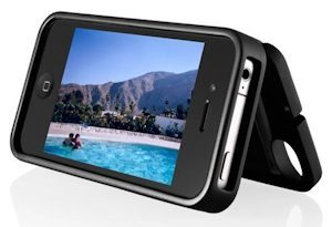 The EYNcase can be used as a kickstand for your iPhone