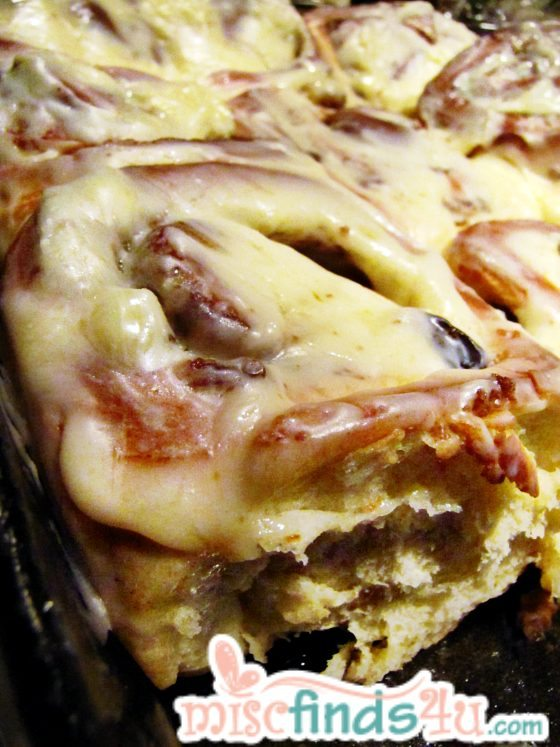 Homemade Cinnamon Rolls with Cream Cheese Frosting - freezer and bread maker recipe