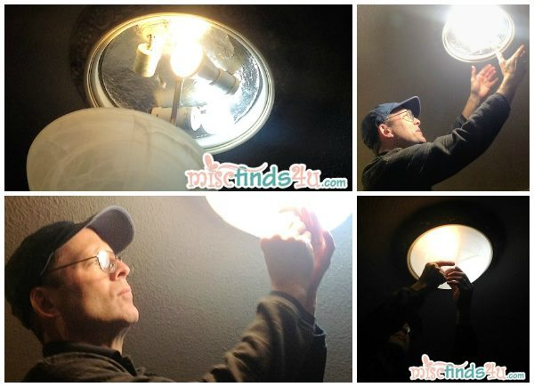 Doing a lightbulb inventory looking for ways to save money by putting in the right energy efficient bulbs #cbias